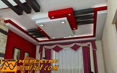 Faux plafond pour le salon