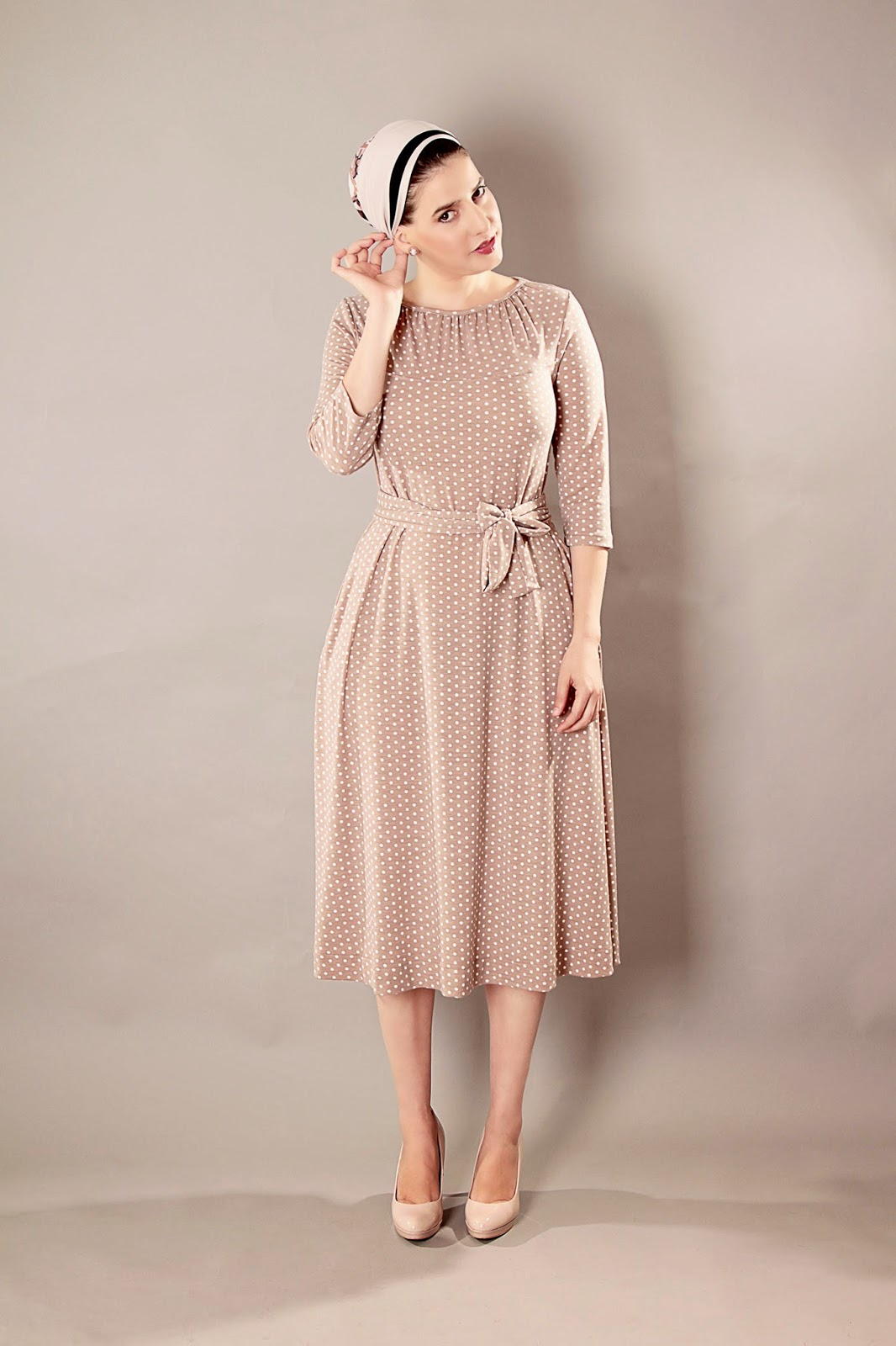 c2e50e883631 Bianca dress - Classic modest dress, with matching belt.Perfect for any  occasion formal or casual.Super comfortable to wear for long hours.