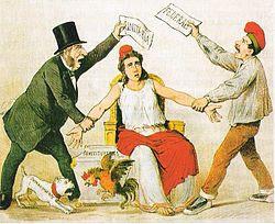 Caricatura de la revista satírica La Flaca del 3 de marzo de 1873