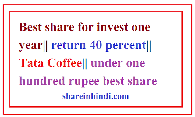 Best share for invest one year|| return 40 percent|| Tata Coffee|| under one hundred rupee best share