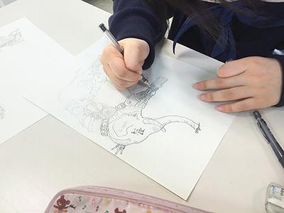 美術クラブ 横浜美術学院の中学生向け教室 ぜんぶ自分でつくる「自由制作」10