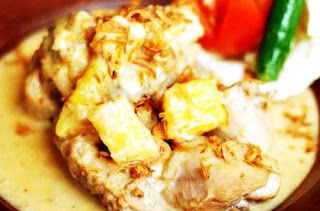 resep ayam opor nanas