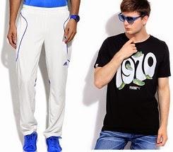 Puma | Adidas | Reebok | FILA Men's Clothing – Min 50%  Off – below Rs.799 @ Flipkart (Limited Period Offer)