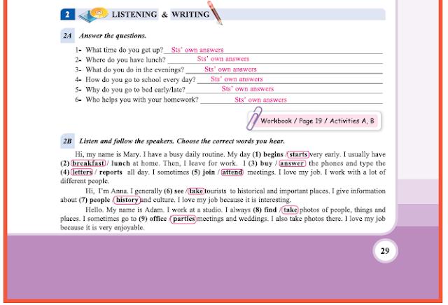 9. Sınıf Yıldırım Yayınları İngilizce A1.2 Ders Kitabı 29. Sayfa Cevapları Theme 2 Personality and Character