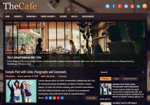 The Cafe Blogger Theme