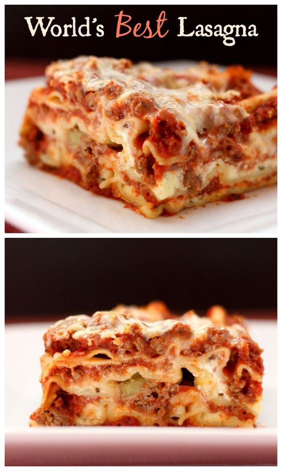 ★★★★☆ 7561 ratings | WORLD'S BEST LASAGNA #HEALTHYFOOD #EASYRECIPES #DINNER #LAUCH #DELICIOUS #EASY #HOLIDAYS #RECIPE #WORLD #BEST #LASAGNA