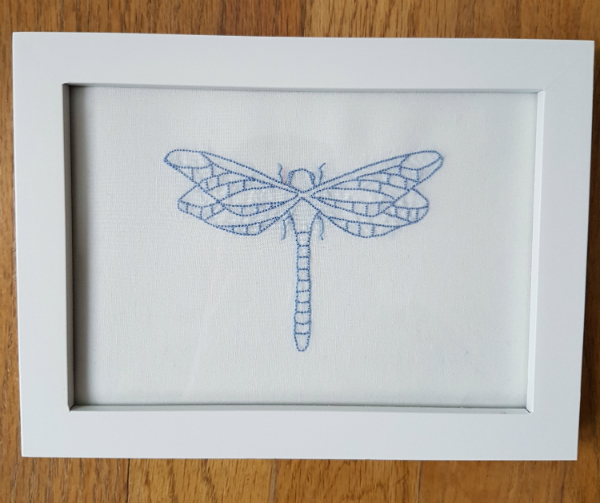 Dragonfly embroidery | DevotedQuilter.blogspot.com