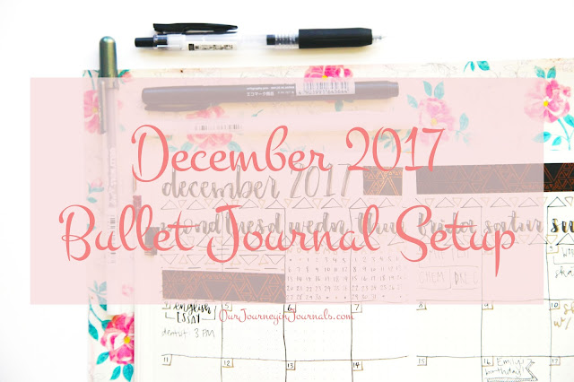 December 2017 Bullet Journal Setup