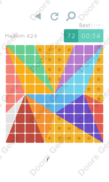 Cheats, Walkthrough for Blocks and Shapes Medium Level 424
