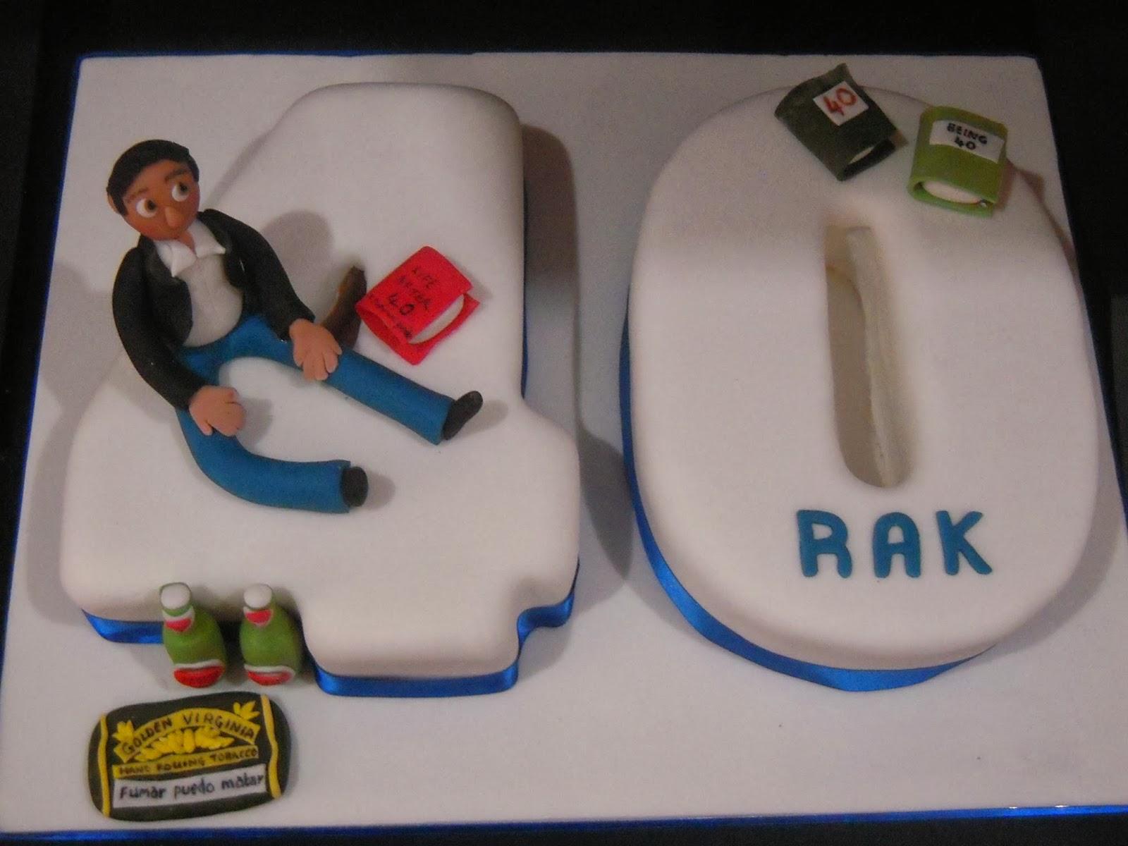 Eileen Atkinsons Celebration Cakes 40th Birthday Cake