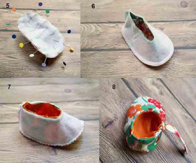 Tutorial 3 dan cara mudah membuat sepatu bayi dari kain perca