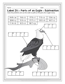 Eagle Label It! Subtraction Puzzle - free download