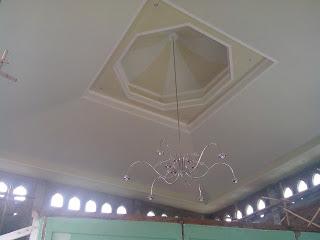 Plafon dome masjid baitul makmur selesai