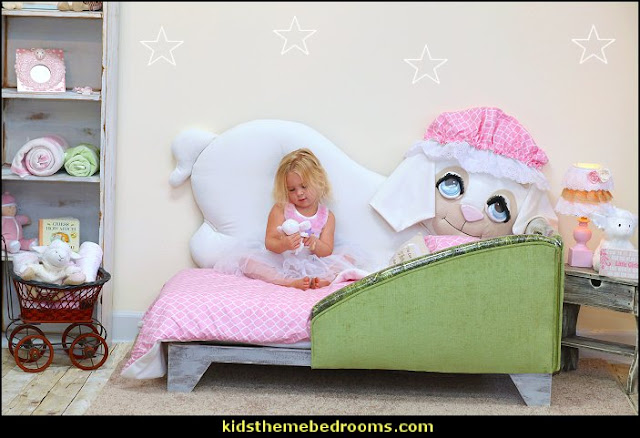 Loveable Lilly The Lamb Themed Bed  Nursery Rhyme bed for toddlers  animal themed beds lamb themed toddler bed Loveable Lilly The Lamb Themed Bed