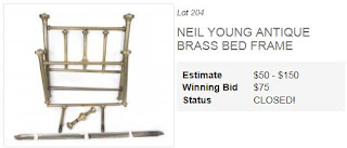 Neil Youngs Big Brass Bed