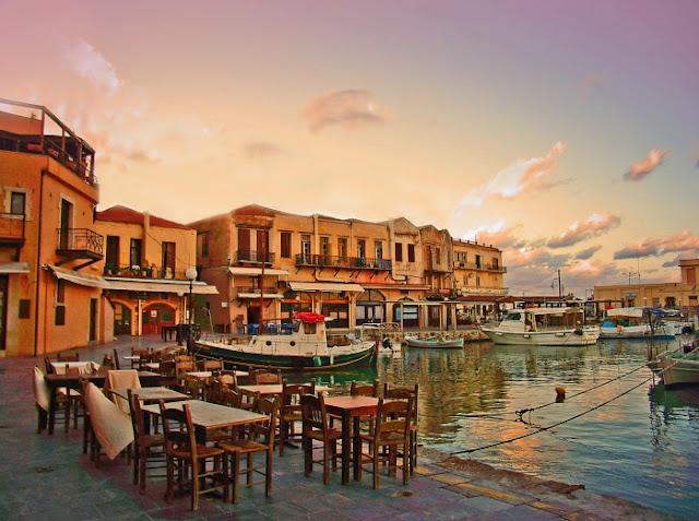 Passeio romântico pelas ruas de Rethymnon, Creta