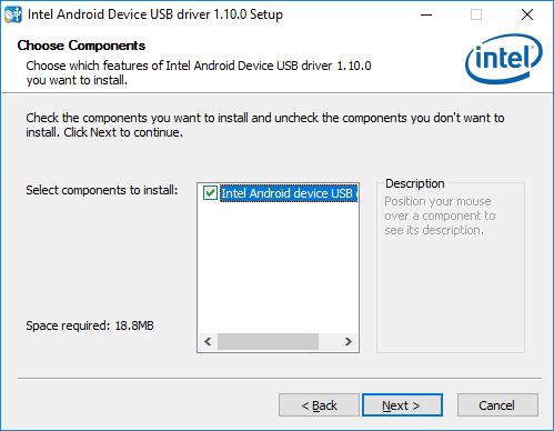 Download And Install Intel® USB Driver for Android Devices