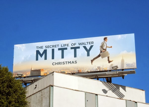 Secret Life of Walter Mitty movie billboard