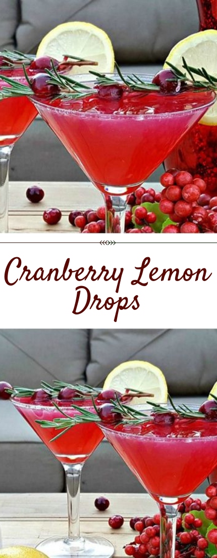 Cranberry Lemon Drops #drinks #recipe
