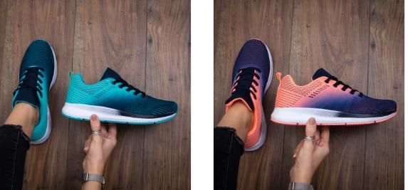 Pantofi sport ieftini din panza cu talpa de spuma negri