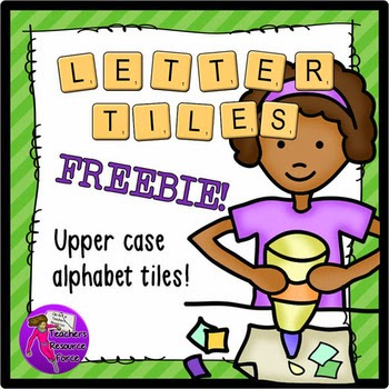 Alphabet Lettered Tiles Freebie by Teachers Resource Force