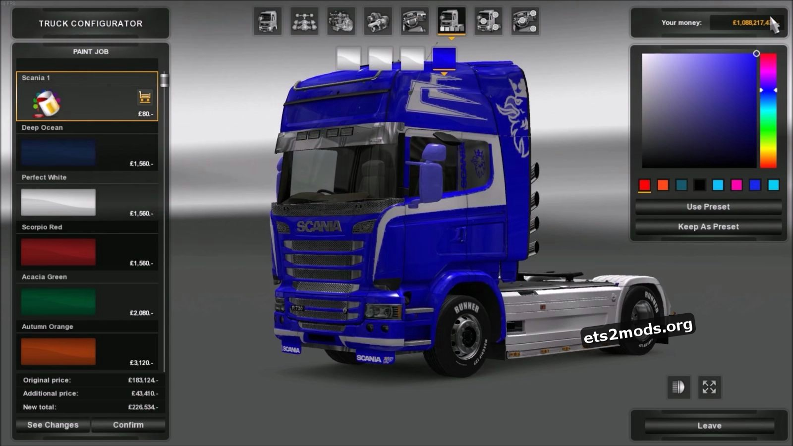 Costom PaintJob for Scania Streamline