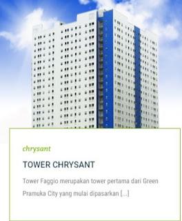 TOWER CHRYSANT Apartemen Green Pramuka City