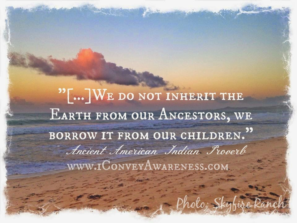 Convey Awareness | Raising Self Reliant Youth - Native American Proverb