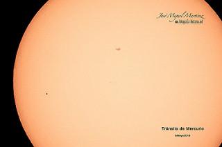 Tránsito de Mercurio por delante del Sol 09/05/2016