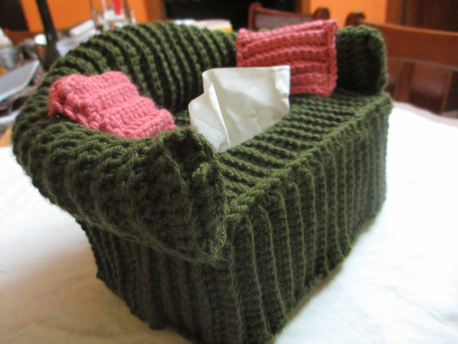 Crochet Sofa Cover Patterns Tribeca Bed Vector Gaming Tissue Box