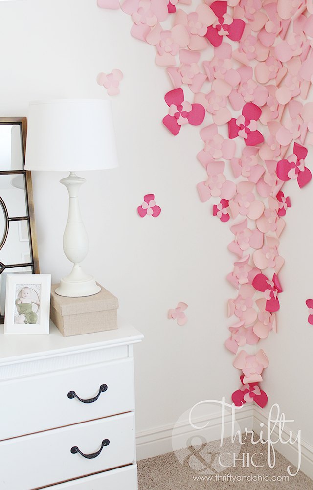 3D Flower Wall Art Cute Idea For A Nursery! Part 43