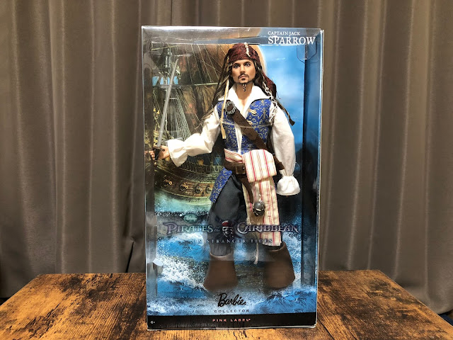 Barbie Collector Captain Jack Sparrow box front