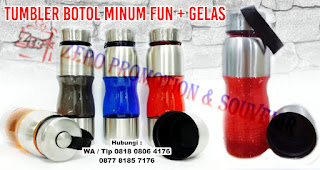 funbottle gelas, Botol sport tumbler,  Botol Minum Fun alumunium
