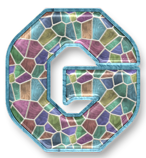 Abecedario hecho con Mosaicos de Color Pastel. Alphabet made with Pastel Color Mosaics.