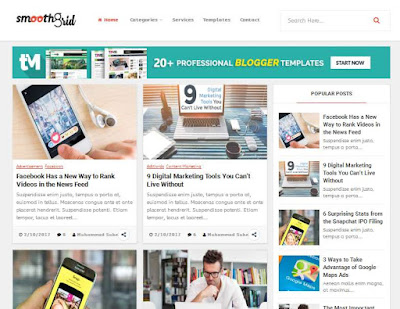 Template SEO friendly Smooth Grid Professional