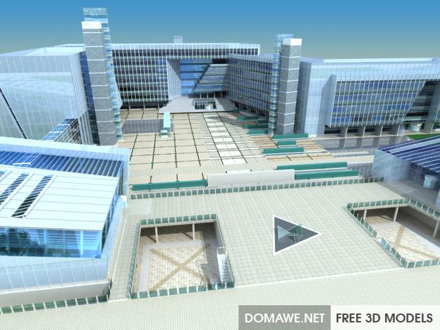 DOMAWE net: Industrial Park Area 3D Model Free Download