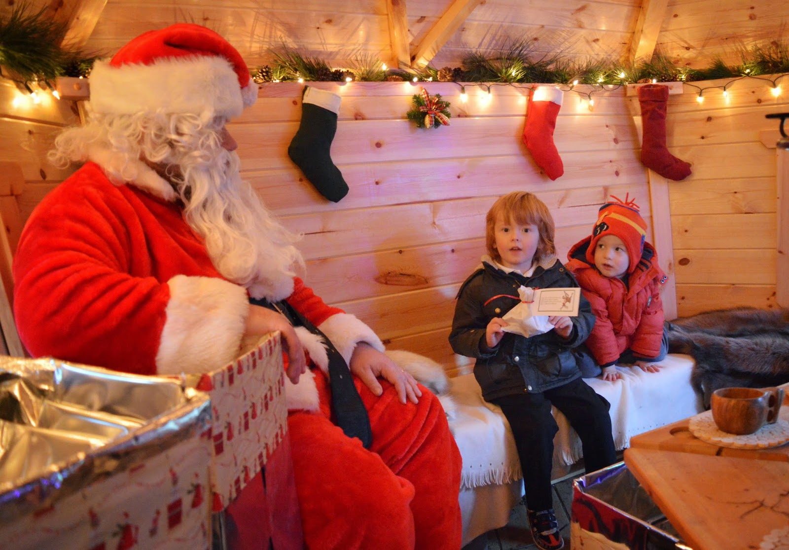 Santa's Grotto at Rising Sun Countryside Centre, North Tyneside - A review - visiting Santa in his grotto