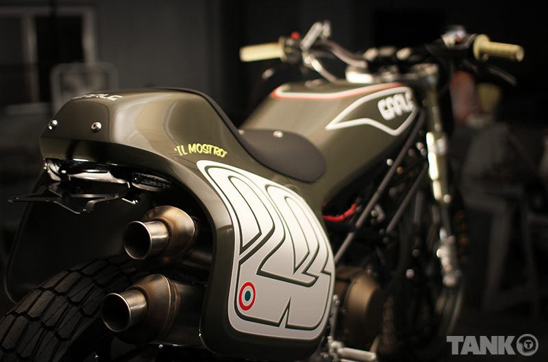 Alex Earle Ducati Monster Tracker :: via Return Of The Cafe Racers