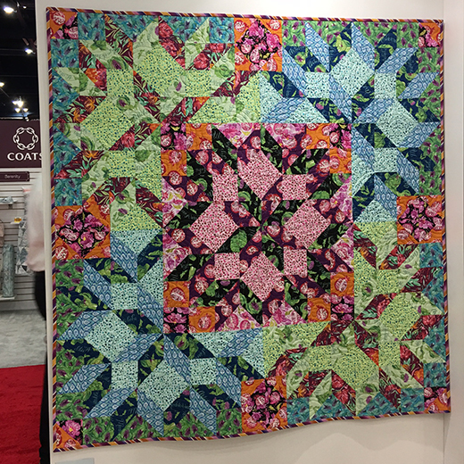Fruit Salad Quilt Free Pattern designed by Linda & Carl Sullivan for Free Spirit Fabrics, Featuring Artichoke Garden by Corrine Haig