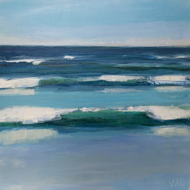 Painting of waves by Whitney Heavey