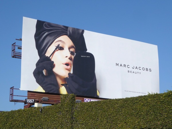 Marc Jacobs Beauty mascara billboard