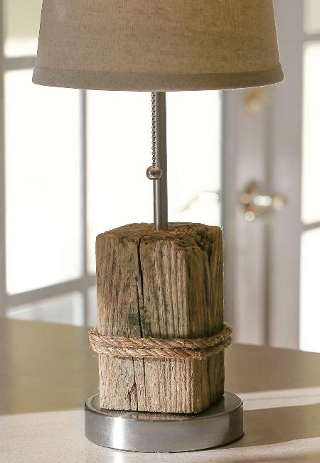 Drift Wood Base Table Lamp