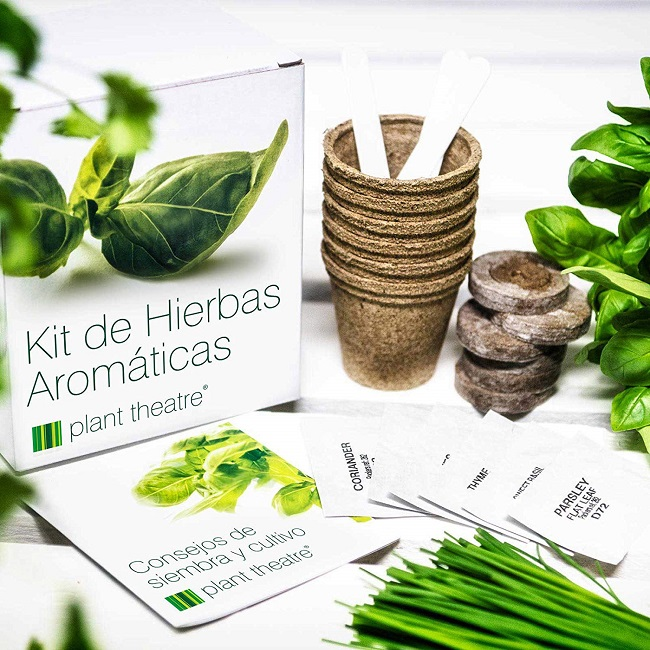 Kit para realizar un Huerto de Hierbas Aromáticas