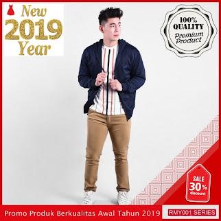 RMY164S38 Sweater Zipper Topi Distric Keren Navy Trendy BMGShop
