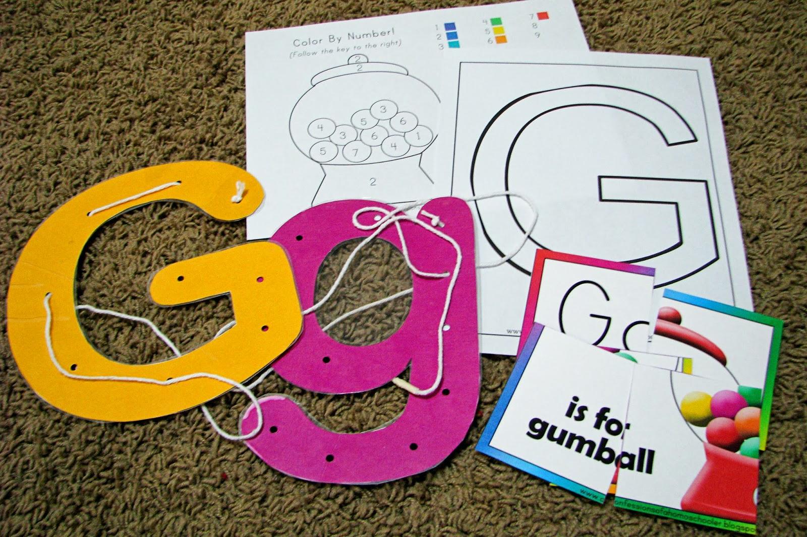 Mommy S Little Helper Letter G Gumball Preschool Theme