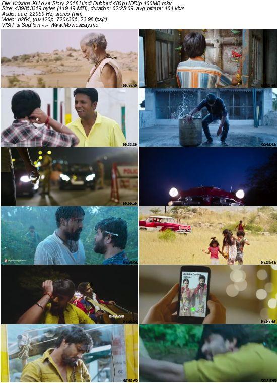Krishna Ki Love Story 2018 Hindi Dubbed 480p HDRip 400MB worldfree4u