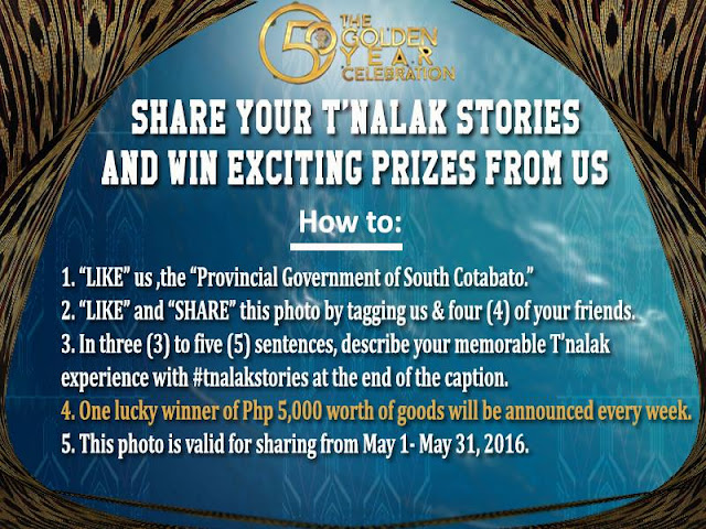 Share Your Tnalak Festival Stories and Win Exciting Prizes