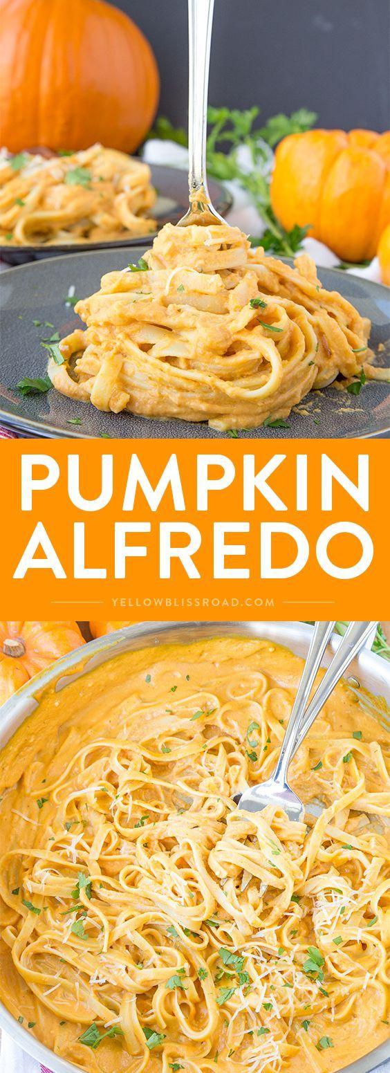 PUMPKIN ALFREDO #pumpkin #alfredo #vegetarian #vegetarianrecipes #pasta
