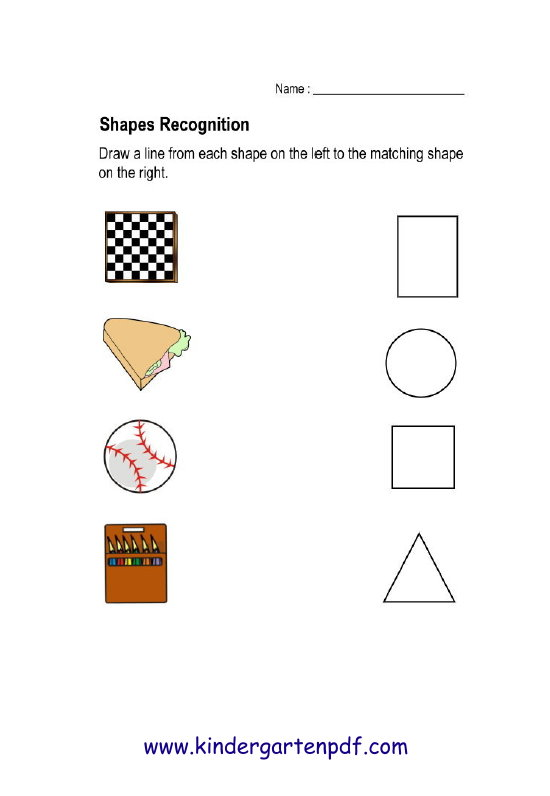 Free Nursery Worksheets Shapes Recognition Worksheets For Kids – Shape Recognition Worksheets