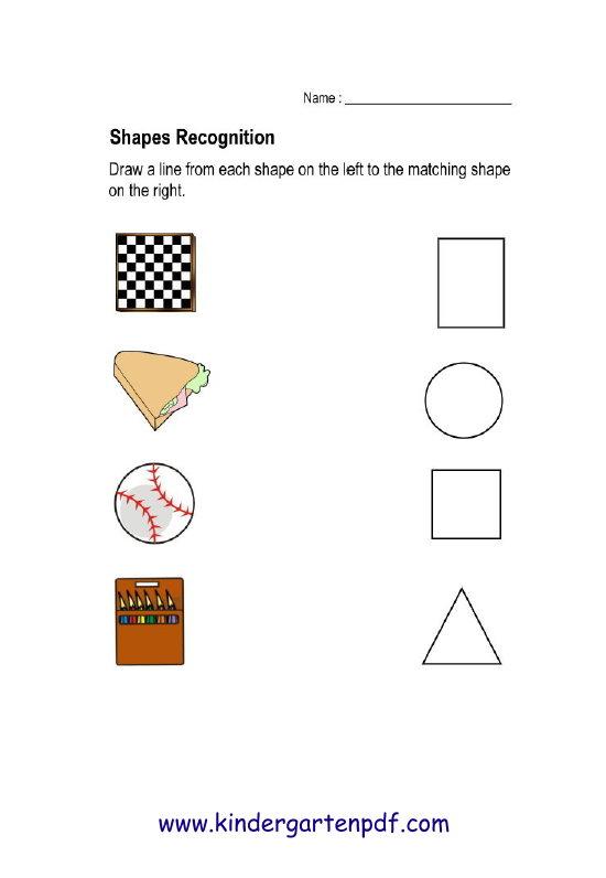 free nursery worksheets shapes recognition worksheets for kids aged 4 6 years. Black Bedroom Furniture Sets. Home Design Ideas